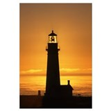 """Yaquina Head Sunset"" 13x16_Framed_Print"