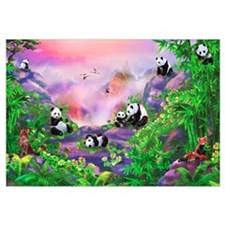 'Pandas in the Wild' illustration by Birg Schulz