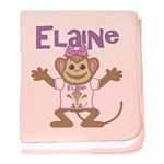Little Monkey Elaine baby blanket