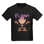 Little Monkey Elaine Kids Dark T-Shirt