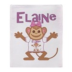 Little Monkey Elaine Throw Blanket