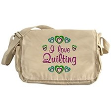 I Love Quilting Messenger Bag