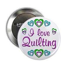 "I Love Quilting 2.25"" Button"
