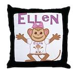 Little Monkey Ellen Throw Pillow