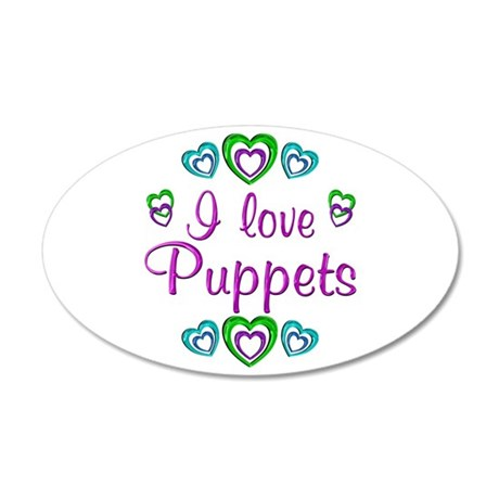 I Love Puppets 22x14 Oval Wall Peel