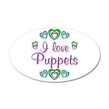 I Love Puppets 22x14 Oval Wall Peel