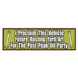 Peak Oil Party Bumper Bumper Sticker