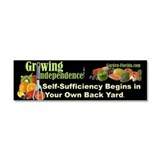 Self-Sufficiency / Edible Landscaping Car Magnet 1