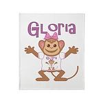 Little Monkey Gloria Throw Blanket