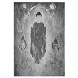 black + white buddhas, suns and devas