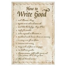 How to Write Good 16x20 , Calligraphy