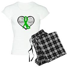 Cerebral Palsy Heart Ribbon pajamas
