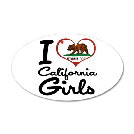 I Love California Girls 22x14 Oval Wall Peel