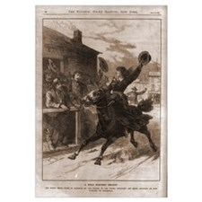 Belle Starr Skipping Bail on Horseback