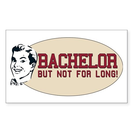 Hip Retro Vintage Bachelor Rectangle Sticker