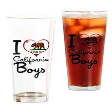 I Love California Boys Drinking Glass