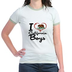 I Love California Boys Jr. Ringer T-Shirt