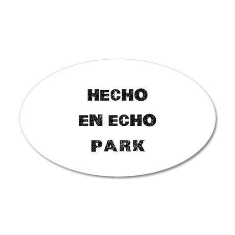 Hecho En Echo Park 38.5 x 24.5 Oval Wall Peel