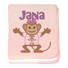 Little Monkey Jana baby blanket