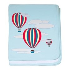 Hot Air Balloon Sky baby blanket