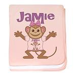 Little Monkey Jamie baby blanket