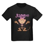 Little Monkey Jamie Kids Dark T-Shirt