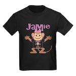 Little Monkey Jamie Kids Dark T-Shirt