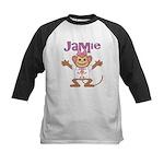 Little Monkey Jamie Kids Baseball Jersey