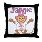 Little Monkey Jamie Throw Pillow