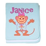 Little Monkey Janice baby blanket