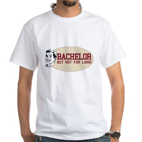 Hip Retro Vintage Bachelor White T-Shirt