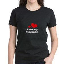 i love my fireman (red/black) Tee