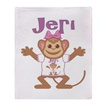 Little Monkey Jeri Throw Blanket