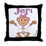 Little Monkey Jeri Throw Pillow