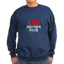 nurses rock (red/black) Sweatshirt