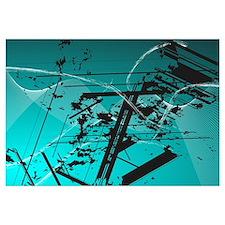 Blue Stroke Vector Art Work