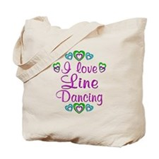Love Line Dancing Tote Bag