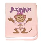 Little Monkey Joanne baby blanket
