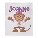 Little Monkey Joanne Throw Blanket