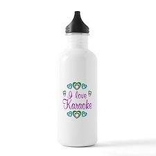 I Love Karaoke Water Bottle