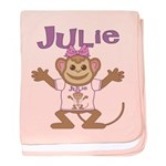 Little Monkey Julie baby blanket