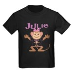 Little Monkey Julie Kids Dark T-Shirt