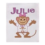 Little Monkey Julie Throw Blanket