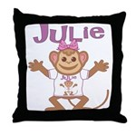 Little Monkey Julie Throw Pillow