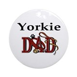 Yorkie Dad Ornament (Round)