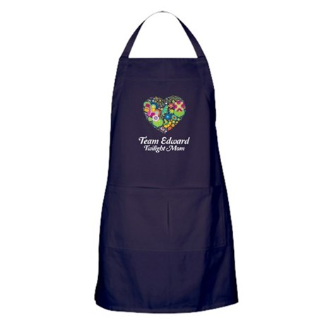 Twilight Mom Floral Heart Apron (dark)
