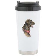 Liver flat-coated retriever ceramic travel mug