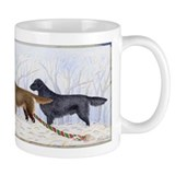 Winter Flat-coated Retriever Small Mugs
