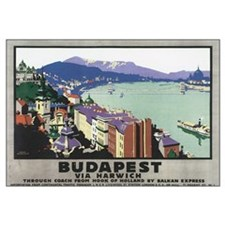 Vintage Budapest Travel Poste