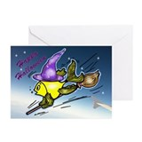 Halloween wizard Fish Greeting Cards (Pk of 10)